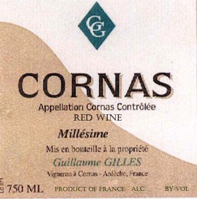 Domaine Guillaume Gilles (1.5 L) 2018 Cornas AOC