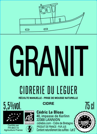 Cidrerie du Leguer 2018 'Granit' Cidre de Bretagne IGP