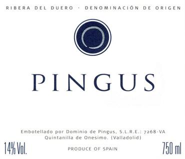 Dominio de Pingus 2011 'Pingus' Ribera Del Duero DO