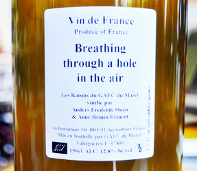 Anders Frederik Steen (1.5 L) 2017 'Breathing Through a Hole in the Air' Viognier, Vin de France (Ardeche)