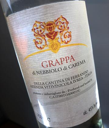 Luigi Ferrando Grappa di Carema (90 proof)