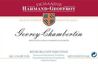 Domaine Harmand-Geoffroy 2016 Gevrey-Chambertin AOC