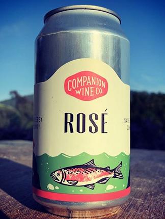 Companion Wine Co. (375 ml) 2019 Rose, Monterey (can)