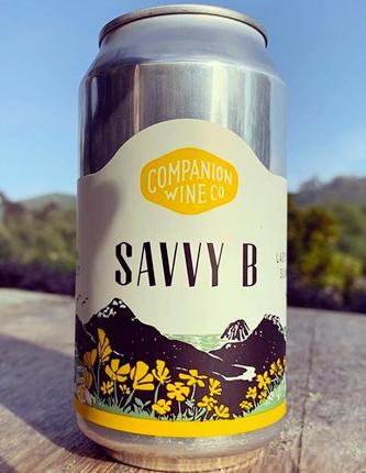 Companion Wine Co. (375 ml) 2020 'Savvy B' Sauvignon Blanc, Edna Valley (can)