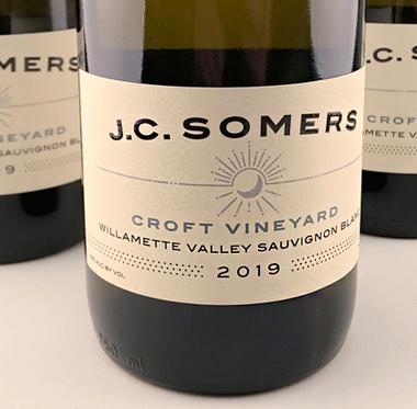 J.C. Somers Vintner 2019 Sauvignon Blanc, Croft Vineyard, Willamette Valley