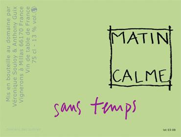 Domaine Matin Calme 2015 'Sans Temps' Carignan, Vin de France (Roussillon)