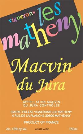 Vignerons Les Matheny NV Macvin du Jura AOC