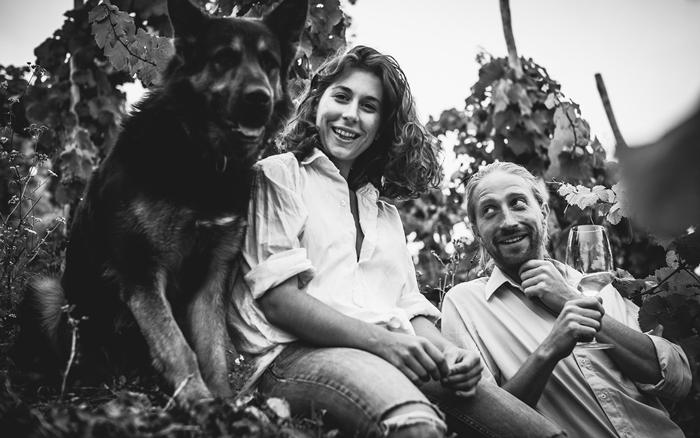 Winemakers Olympia Samara and Johannes Hoffman