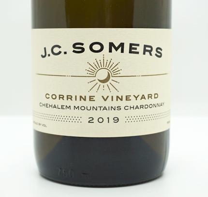 J.C. Somers Vintner 2019 Chardonnay, Corrine Vineyard, Chehalem Mountains