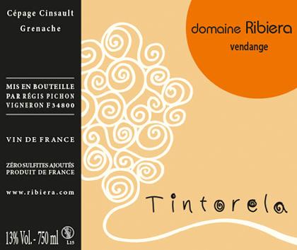 Domaine Ribiera 2019 'Tintorela' Rouge, Vin de France (Languedoc)