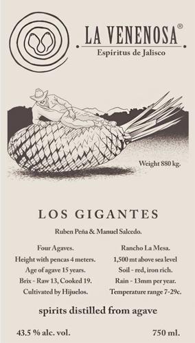 La Venenosa Raicilla 'Los Gigantes' Americana, Sierra Occidental de Jalisco (87 proof)