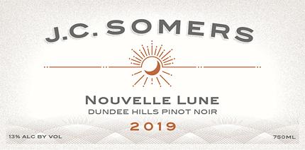J.C. Somers Vintner 2019 'Nouvelle Lune' Pinot Noir, Dundee Hills