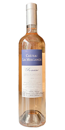 Chateau Les Mesclances 2020 'Romane' Cotes de Provence Rose AOC