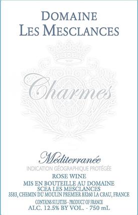 Chateau Les Mesclances 2020 'Charmes' Rose, Mediterranee IGP
