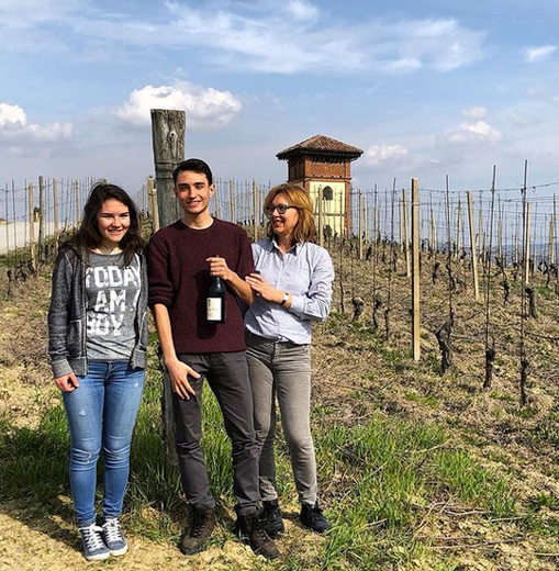Lena with her children Maria Milena and Giovanni in Specola Vineyard