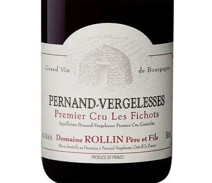 Domaine Rollin Pere and Fils 2018 Pernand-Vergelesses Rouge 1er Cru, Les Fichots, AOC