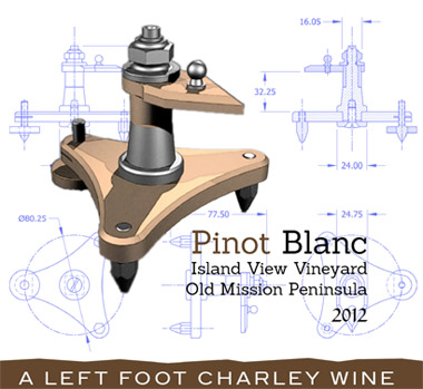 Left Foot Charley 2016 Pinot Blanc, Island View Vineyard, Old Mission Peninsula