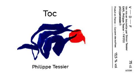 Domaine Philippe Tessier 2020 'Toc' Rouge, Vin de France (Cheverny)