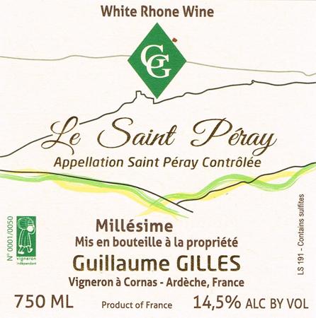 Domaine Guillaume Gilles 2019 Saint-Peray AOC