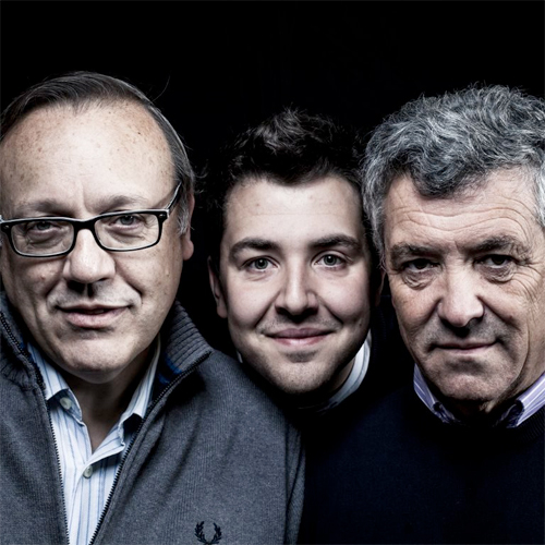 Owners from left to right: Vladimiro Rambaldi, Nicola Oberto, and Federico Oberto