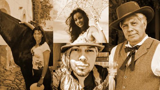 Rodriguez Family from left to right: Carmen, Cristina, Eli, Ezequiel