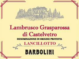 Barbolini NV 'Lancillotto' Lambrusco Grasparossa di Castelvetro DOC