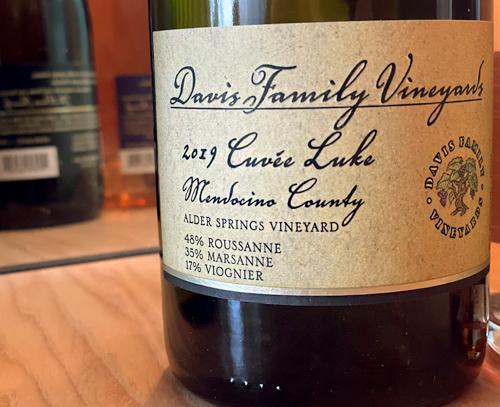 Davis Family Vineyards 2019 'Cuvee Luke' (RMV), Alder Springs Vineyard, Mendocino