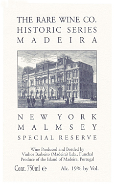 RWC Historic Series 'New York' Malmsey, Madeira DOC