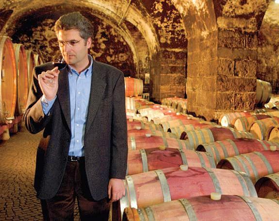Stephan Filippi in the Bolzano Cellar