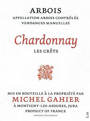 Michel Gahier 2015 Chardonnay, Les Crets, Arbois AOC