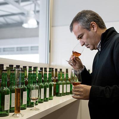 Ricardo Freitas evaluating Madeira samples.