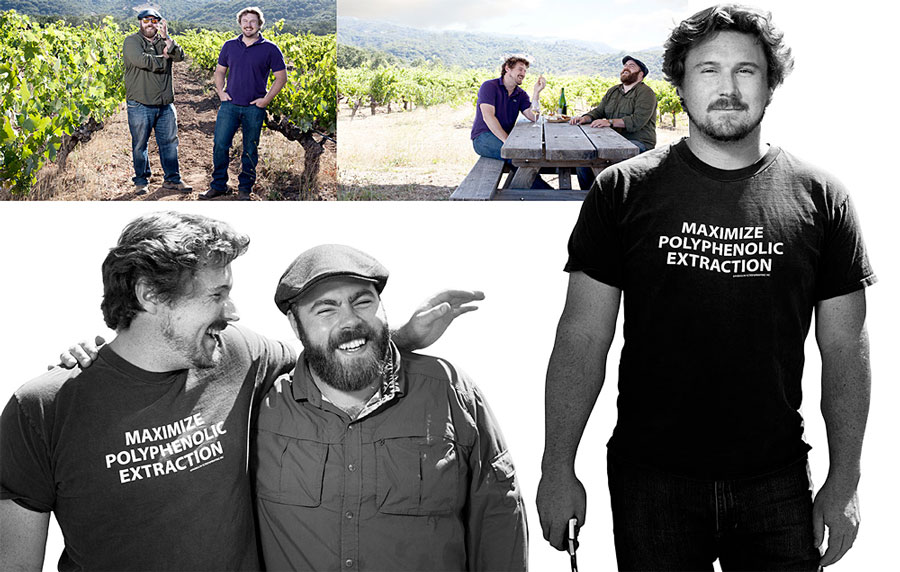 The Bedrock Crew - Morgan Twain-Peterson (owner/winemaker) and Chris Cottrell (best friend/manager)