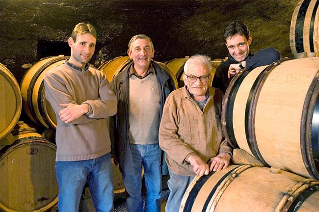 3 Generations of Prudhon Vigneron: Henri, Gerard, Vincent and Philippe