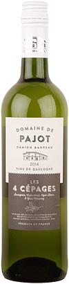 Domaine de Pajot 2018 'Les Quatre Cepages' White Blend, Cotes de Gascogne IGP