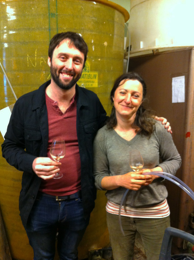 Zev Rovine with Alice Bouvot, Owner of L'Octavin