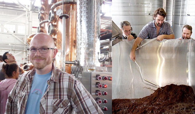 Dave Smith (left) and Jeff Kessigner (right) fills the still