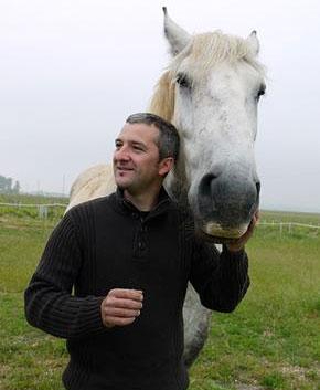Alexandre Bain with horse Phénomène