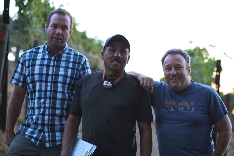 Thomas Fogarty Team listed from left to right: Nathan Kandler (Winemaker), Julio Deras (Vineyard Manager), Tom Fogarty Jr. (Managing Principal)