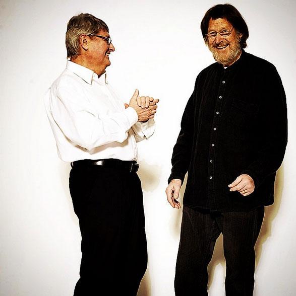 Master Blender Folke Anderson (left) and Master Glassblower Göran Wärff (right)