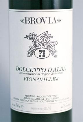Brovia 2018 'Vignavillej' Dolcetto d'Alba DOC