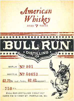 Bull Run Distilling Company American Whiskey (82.42 proof)