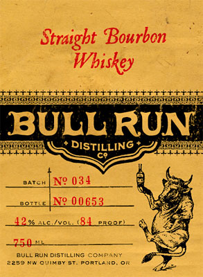 Bull Run Distilling Co. Straight Bourbon Whiskey (90 proof)