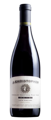 J. Christopher 2014 Pinot Noir, Lia's Vineyard, Chehalem Mountains