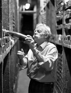 Hans-Josef Becker in his Underground Cellar