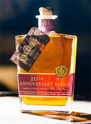 Old New Orleans Rum 'King Creole' 20th Anniversary Rum (80 proof)