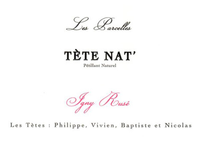 Les Tetes 2015 Les Parcelles 'Tete Nat' Rose Petillant Naturel, Vin de France (Loire)