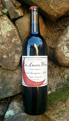 Les Lunes Wine 2016 Cabernet Sauvignon/Merlot, Coplan Vineyard, Carneros