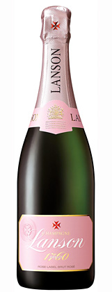 Champagne Lanson (375 ml) NV 'Rose Label' Brut Rosé