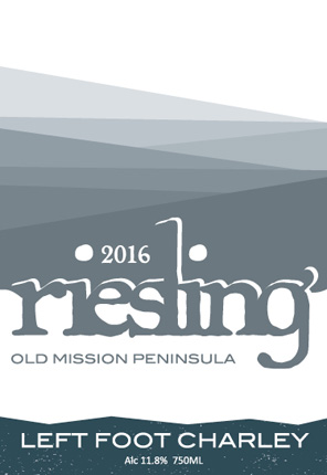 Left Foot Charley 2016 Riesling, Old Mission Peninsula