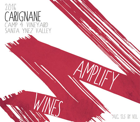 Amplify Wines 2017 Carignane, Camp 4 Vineyard,, Santa Ynez Valley